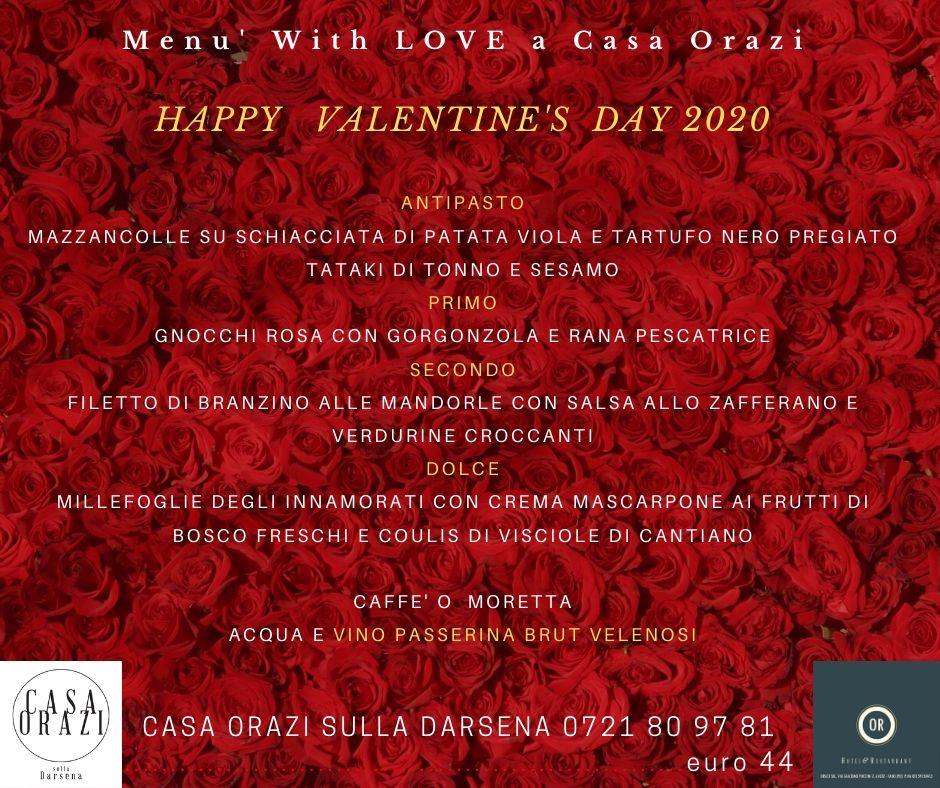 Menu' Romantico San Valentino 2020